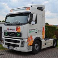 Volvo - zajištění dopravy na sklad.