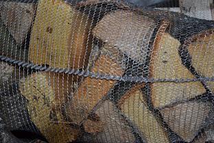Štípané dřevo tvrdé, pytle 100l