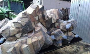 Štípané dřevo  bříza v pytlích 100litru