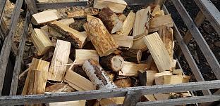 Štípané dřevo bříza - bedny.